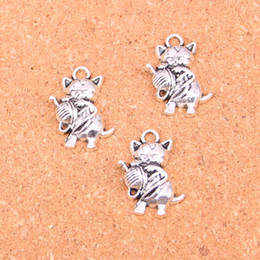 $enCountryForm.capitalKeyWord Canada - 48pcs Charms cat ball,Antique Making pendant fit,Vintage Tibetan Silver,jewelry DIY bracelet necklace 25*15mm