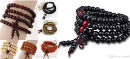 handmade beaded bracelets 2019 - Fashion wood beaded strand bracelet men women Chinese knot beads infinity multilayer bless charm bracelet wristband unis
