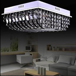 Free Shipping 2015 New Arrival Square K9 Crystal Ceiling Lamp Led Chandelier Bedroom Living Room Lighting