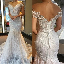 wedding dresses sweetheart mermaid china NZ - Sexy Mermaid Wedding Dress China Lace Applique Beads Sweetheart Neck Sweep Train Illusion Custom Made Wedding Dresses Bridal Gowns