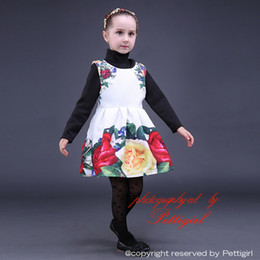 Fancy dress style online shopping - Pettigirl New White Rose Girls Dresses Pretty Girl Party Dress With Floral on Shoulder Fancy Children Wear GD80928