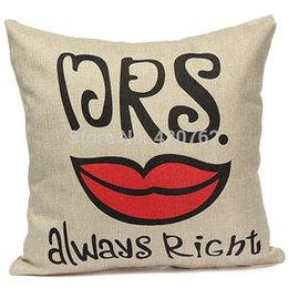 Valentine Pillows Gift Canada - 1pcs lot Pillowcases Bed Sofa Car invisible zipper Pillow Cases Waist Back Cushion Cover Valentines day Gift Home Decoration
