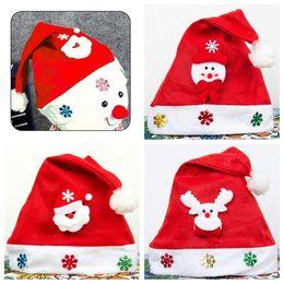 Cloth Caps for Children online shopping - New styles Christmas hats  Children s cartoon cap Christmas 6320e5a6408