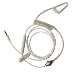 Tubo de aire hueco acústico 3.5mm Auriculares antirradiación con micrófono y con interruptor de respuesta compatible para Iphone 6 Plus 5 4 4s Samsung Galax
