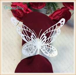 $enCountryForm.capitalKeyWord Canada - 50Pcs lot Free ShippingTowel Buckle Laser Cutting Butterfly Shape Wedding Decorations Napkin Ring for Party Table Decoration,Wedding Favors