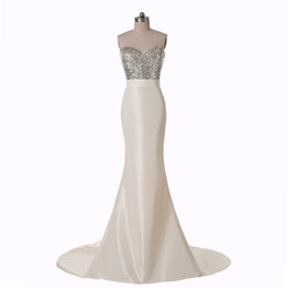 $enCountryForm.capitalKeyWord UK - W5048 Long Mermaid Bridesmaid Dresses Sweetheart New Arrival Formal Evening Gowns Sequins Dazzling Stunning Tie Up Corset Modern Satin Best