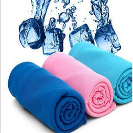 $enCountryForm.capitalKeyWord Canada - 90*35cm Ice Cold Towel Double Layer Cooling Summer Sunstroke Sports Towels Exercise Instant Cool Dry Scarf Soft Breathable Ice Belt Towel