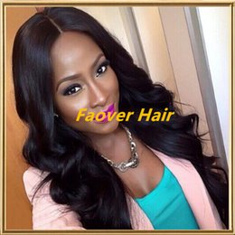 free virgin lace wigs Canada - Grade 8A Peruvian Virgin Hair Body Wave Big Curly 1#,1b,2#,4# and Natural Color Full Lace wig with baby hair 130% density free shipping