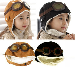 $enCountryForm.capitalKeyWord Canada - High quality Fashion StyleNew Cute Baby Toddler Boy Girl Kids Pilot Aviator Cap Warm Hats Earflap Beanie Ear muff cap air force cap Warm