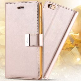 Original Iphone Cases Canada - Floveme 6s 6s Plus Luxury Original Brand Case PU Leather Cover With Card Bag For Iphone 6   Plus Full Protect Wallet Stand Case