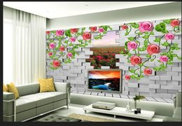 $enCountryForm.capitalKeyWord Canada - Papel de parede brick 3D backdrop window non-woven wallpaper new large murals costomize size Free fast shipping 168p!