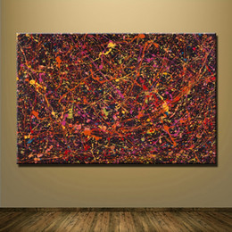 Art Canvas Prints Australia - 1 Pcs Abstract Red Lines Art HD Prints Poster Wall Pictures Canvas Painting For Living Room Decor No Framed