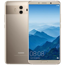 "Wholesale Global Version Huawei Mate 10 4G LTE Mobile Phone 6GB RAM 128GB ROM Kirin 970 Octa Core Android 5.9"" 2K Screen 20MP AI NFC 4000mAh Fingerprint ID Smart Cell Phone"