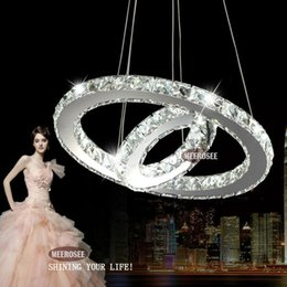modern diy design led chandelier light fixture circle round 2 rings for pendant md8825 modern circled designed chandeliers promotion - Discount Chandeliers