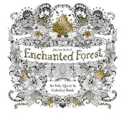Secret Garden2 Enchanted Forest Coloring Book For Children Adult Relieve Stress Kill Time Graffiti Painting Drawing