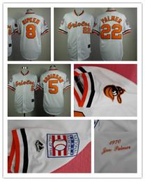 099713a57 ... Baltimore Orioles 5 Brooks Robinson 8 Cal Ripken 22 Jim Palmer Jersey  1970s Throwback Jerseys Baseball Mens ...