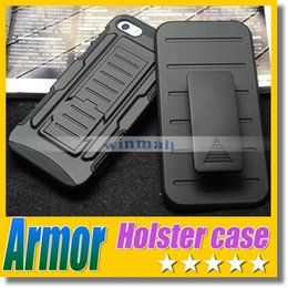 Wholesale Rugged Military Future Armor Case Combo Impact Cover Belt Clip Holster Kickstand For Iphone plus s s LG G3 Galaxy S5 Note