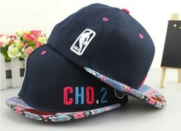 Cotton Navy Canada - High Quality Snapback hats Cotton baseball caps Korea running man Navy Blue CHO.2 Embroidery fashion hip-hop cap