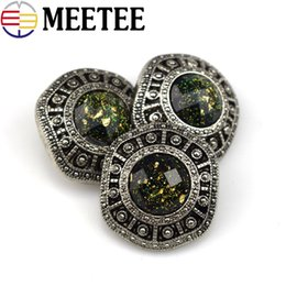 $enCountryForm.capitalKeyWord Australia - Meetee Retro Plastic Buttons Rhinestone Buttons 20mm 25mm 30mm 34mm For coat sweater DIY sewing Craft decoration Button B4-4