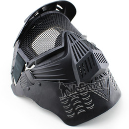 steel mesh face mask Canada - WoSporT Outdoor CS Transformers Ultimate Mask Steel Mesh Full Face Tactical WarGame tactical hood airsof tactical gear