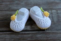 CroChet baby slippers online shopping - Soft Newborn Baby Girls Infant Crib Shoes Toddler Crochet Knit Socks Indoor First Walkers Prewalker Slippers M customer