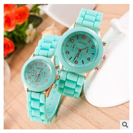 $enCountryForm.capitalKeyWord Canada - Colorful Sports Silicone Jelly Watches Candy Color Geneva Watch Unisex Women Men Hot Sale Analog Quartz Wristwatches DHL Free shipping