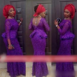 backless boned wedding dress 2019 - 2015 Lace Evening Dresses Mermaid Nigeria Aso Ebi Styles Fashion Wedding Guest Bridesmaid Formal Wear Cheap Mother of Th