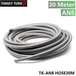 hose tansky 2018 - Tansky - AN 8 Stainless Steel Braided Fuel Line Oil Gas Hose each 30M 3.3FT TK-AN8 HOSE30M cheap hose tansky