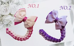 double hair bows Australia - Fashion Headwear 18pcs Blessing Girl Braid 3 .5 Inch Double Abby Bow Hair Clip Hand Customize Hair Accessories