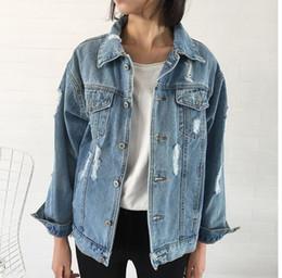 $enCountryForm.capitalKeyWord Canada - Women Basic Coats Autumn And Winter tom Women Denim Jacket Vintage Long Sleeve Loose Female Jeans Coat Casual Girls Outwear