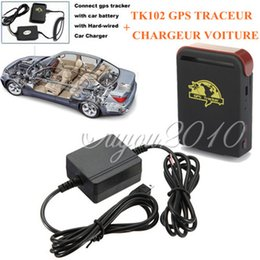 Gps Gsm Tracking Australia - High Quality Chargeable Mini Vehicle Realtime Tracker For GSM GPRS GPS UDP TCP System Tracking Device TK102 Car Tracker