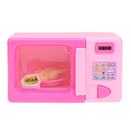 Wholesale  Pink Mini Simulation Microwave Oven Kitchen Toy Kids Children  Pretend Role Play Home Appliances Educational Playing House Toy Discount  Play ...