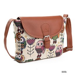 $enCountryForm.capitalKeyWord Canada - hot Summer Women Messenger Bags Canvas Owl Printed Crossbody Shoulder Bags Small Ladies Handbags Flap Bag High Quality