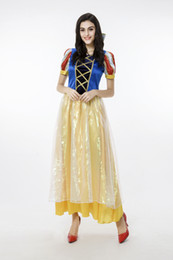 $enCountryForm.capitalKeyWord Canada - New Adult Snow White Princess Long Dress Sexy Cosplay Halloween Costumes For Women Stage Performance Clothing Hot Selling
