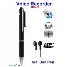 4gb Mp3 Player Canada - 100% Brand New 4GB High Quanlity Professional Mini Digital Pen Voice Recorder USB Audio Recorder with MP3 Player