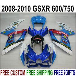 $enCountryForm.capitalKeyWord Australia - ABS fairing kit for SUZUKI GSX-R750 GSX-R600 2008 2009 2010 K8 K9 blue white black fairings set GSXR 600 750 08-10 TA20