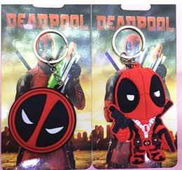 Movie Steel Canada - Deadpool Keychains Anime Cartoon X-men Deadpool Figure Mask PVC Pendant Keychain Metal Stainless Steel Key Ring Keyrings Toys Gifts 151