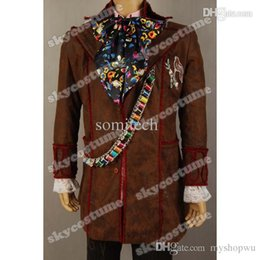 Cosplay Cosplay D'alice Alice Pas Cher-Gros-Alice In Wonderland cosplay costume cravate Johnny Depp Mad Hatter Veste Pantalon