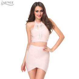 Baile Faldas Al Por Mayor Baratos-Al por mayor-ADYCE 2017 invierno nueva sexy bodycon carrera paquete hip Slim stretch wrap lápiz vendaje faldas partido prom falda casual