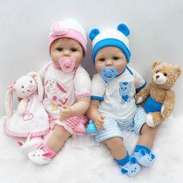 "$enCountryForm.capitalKeyWord Canada - Wholesale- New 22"" 55cm Silicone reborn Super baby Lifelike toddler Baby Bonecas kid doll bebe reborn Brinquedos silicone toys for children"