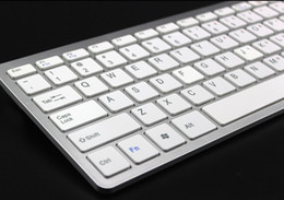 Ipad Mini Desktop Canada - Universal Ultrathin Wireless Bluetooth Keyboard for iPad Android Tablet PC Desktop Computer Protable Mini Qwerty Keyboards