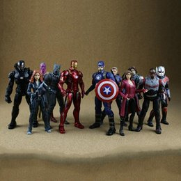 Black toys action figures wholesale online shopping - 11 Styles cm Captain America Ironman Black Panther Avengers Model PVC Action Figure Super Hero Cartoon Collectable Toys CCA8409