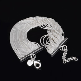cheap sterling silver chains wholesale NZ - Free Shipping with tracking number Top Sale 925 Silver Bracelet Snake bone row chains Bracelet Silver Jewelry 10Pcs lot cheap 1596