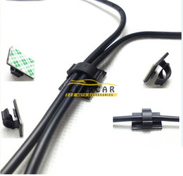 Car splits online shopping - Good Hot New Black Nylon Power Wire Cable Clamp Tie Down Holder Car Audio Split Loom