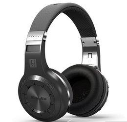 Wireless Radio Headphone Canada - Bluedio H+ Bluetooth V4.1 headphones Stereo Wireless Built-in Mic Micro-SD FM Radio Over-ear headset earphones