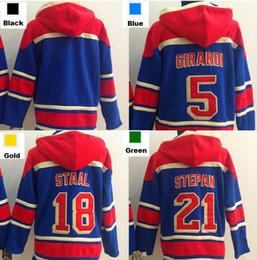 Hockey Hoodie Sweatshirt Canada - Factory Outlet, Cheap 5 Dan Girardi 21 Derek Stepan 18 Marc Staal blank New York Rangers Hoodie Old Time Hockey Jersey Hoodie Sweatshirt