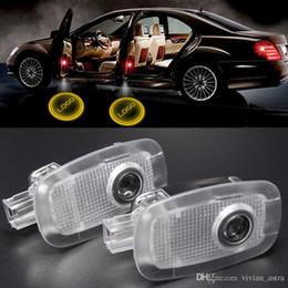 Toptan satış LED Araba kapı nezaket lazer projektör Logo Hayalet Gölge Işık Mercedes W221 Için benz S Sınıfı AMG S500 S350 S63 S65