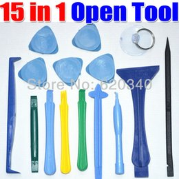 machine tool iphone NZ - 15 in 1 Opening Tools Repair Tools Phone Disassemble Tools set Kit For iPhone iPad HTC Cell Phone Tablet PC order<$18no track