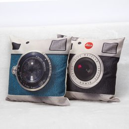 bedroom camera NZ - 2 Styles Cameras Cushion Covers Retro Vintage Camera Art Cushion Cover Bedroom Decorative Linen Pillow Case For Sofa Seat