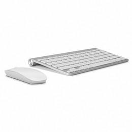 Ratón inalámbrico del teclado Combo teclado 2.4G Ratón inalámbrico ultrafino para Apple teclado estilo Mac Win 7/8/10 caja de la TV envío gratis